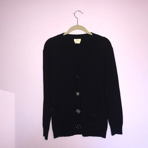 Kate Spade Black Wool Cardigan
